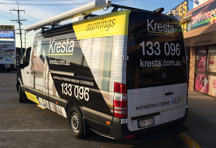 Kresta blinds van wrap