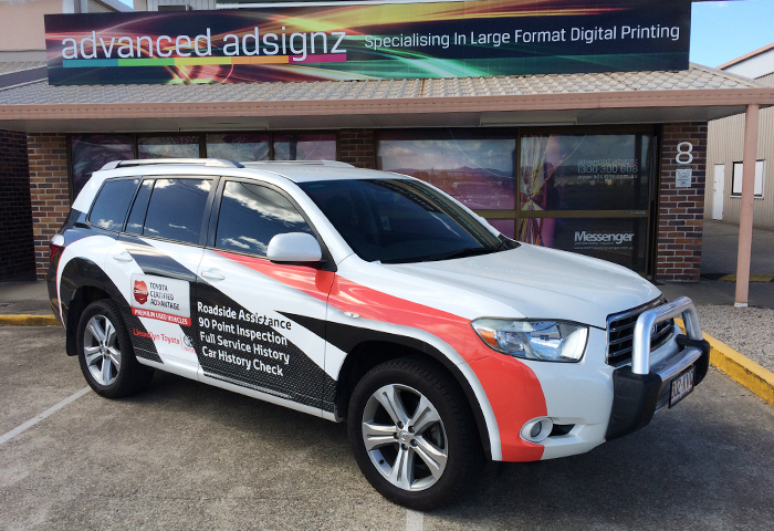 Llewellyn motors kluger car wrap
